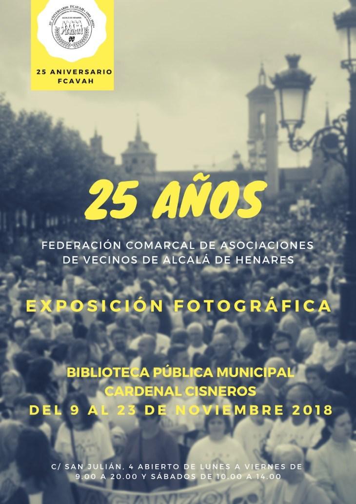 Cartel de la Exposición fotográfica de los 25 a´ños de la Federación.