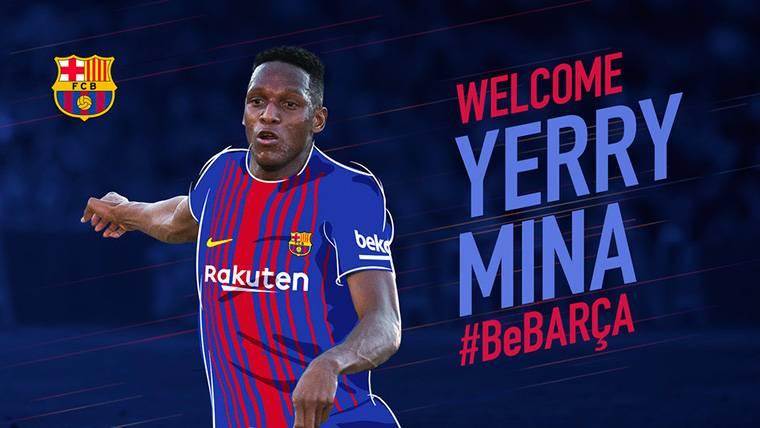 Yerry Mina, el nuevo fichaje anunciado por el FC Barcelona
