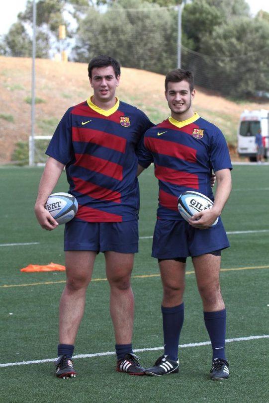Borja Selva i Francisco Chillida, debutants avui amb el primer equip - Imatges Edu Rois