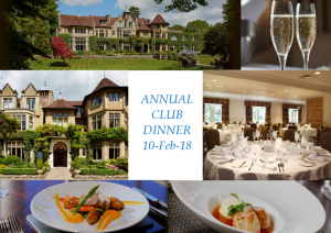 Annual Dinner at Frimley Hall – RSVP