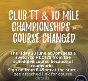 THURSDAY CLUB TT AND 10 MILE CHAMPIONSHIPS