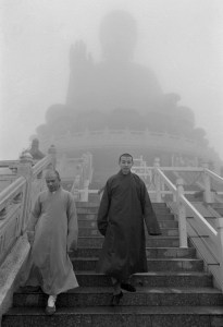 Out of the mist at the Big (Tian Tan) Buddha on Lantau. Photo: Palani Mohan