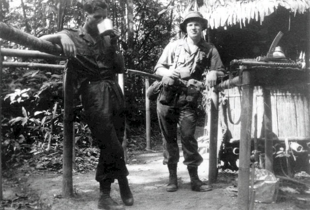 Ashdown as a soldier in the Malayan Emergency in the 1960s.