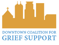Downtown Coaltion grief support logo