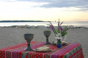 Beach Communion Table