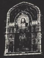 Head of Christ window in 1930s in original chancel