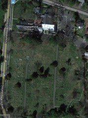 Sound Beach Ave. cemetery birdseye view
