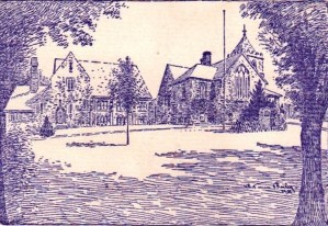 1935-drawing of parish house and church