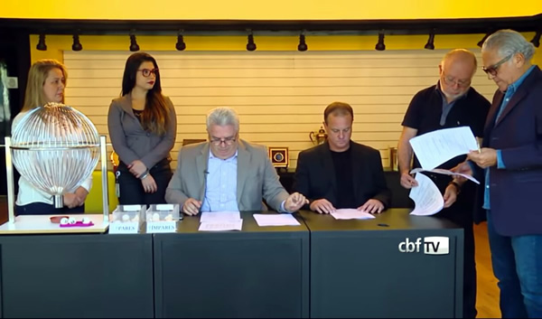 Eliandra, assistente, Sérgio Correa, Sandro Mattos, Francisco Batistotti.