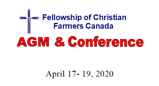 2020 AGM & Conference April 17- 19, 2020