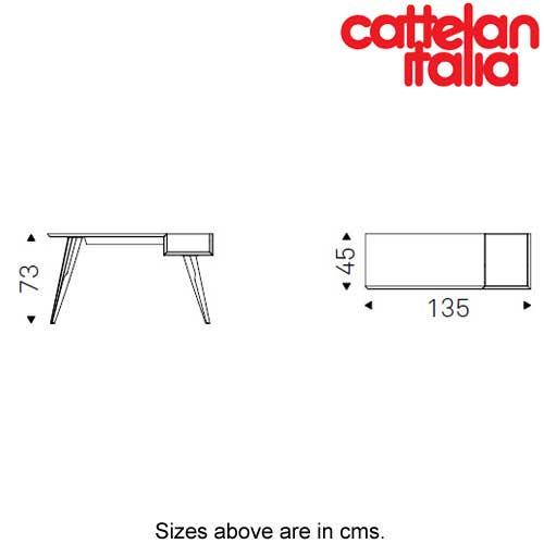 Batik Writing Desk by Cattelan Italia