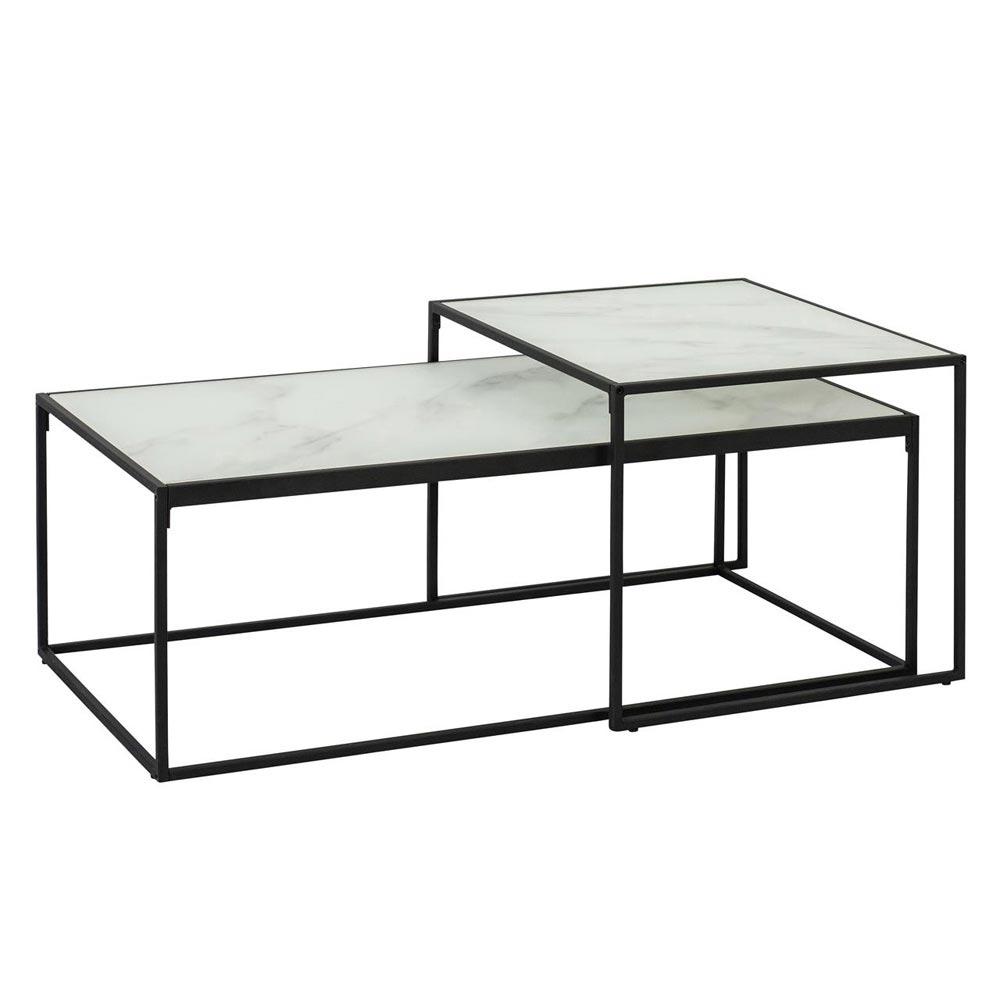 bolton glass coffee table by dk modern fci london