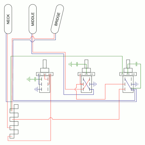 small resolution of strat wiring you will get pretty cool tones playing with knobs i really like stronger in phase series tones especially with middle tone down and the
