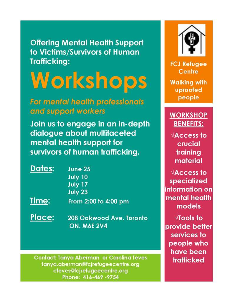 Offering Mental Health Support to Victims June and July