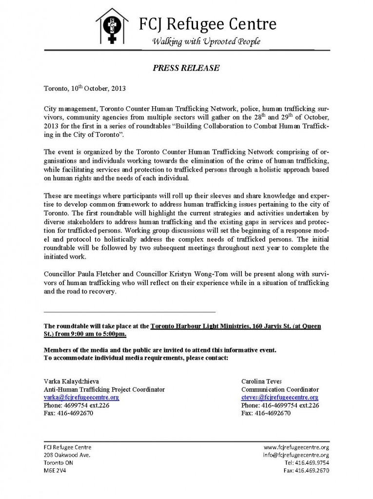 PRESS RELEASSE INVITATION10Oct2013