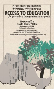 Uprooted Education Round Tables flyer