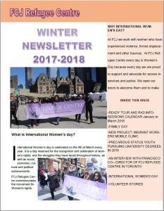 Newsletter Winter 2017-2018