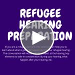Webinar | Refugee Hearing Preparation Online