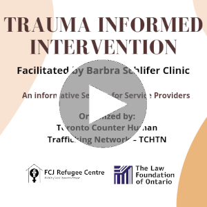 Trauma Informed Intervention, an informative session for service providers