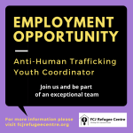 Employment Opportunity: Anti-Human Trafficking Youth Coordinator
