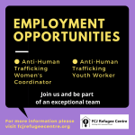 Two Employment Opportunities at FCJ Refugee Centre