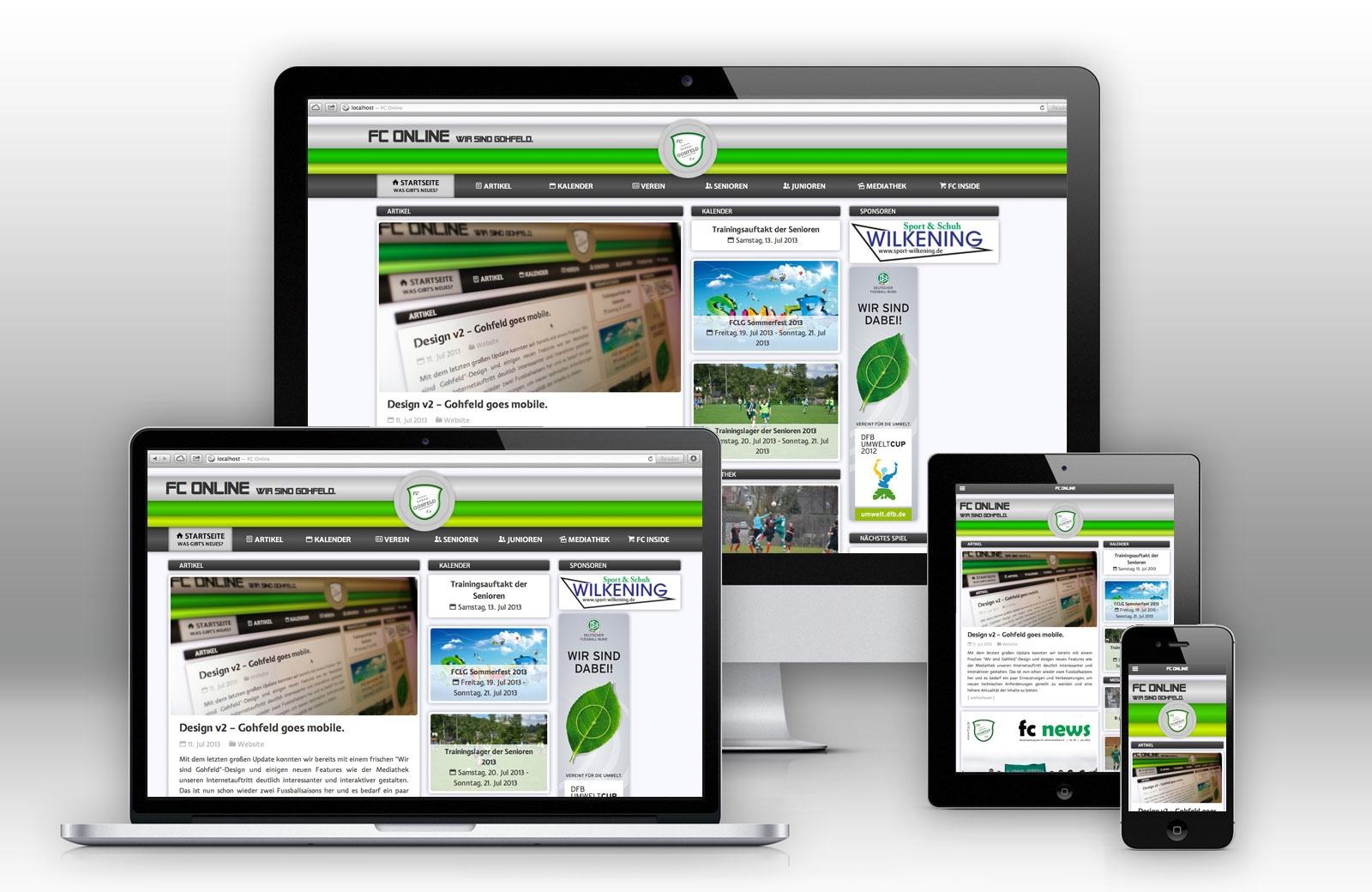 FC Online mit responsive Design