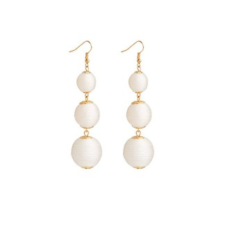 Drop Earring Silk Pearl - Whitegold