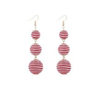 Drop Earring Silk Pearl - Whitered