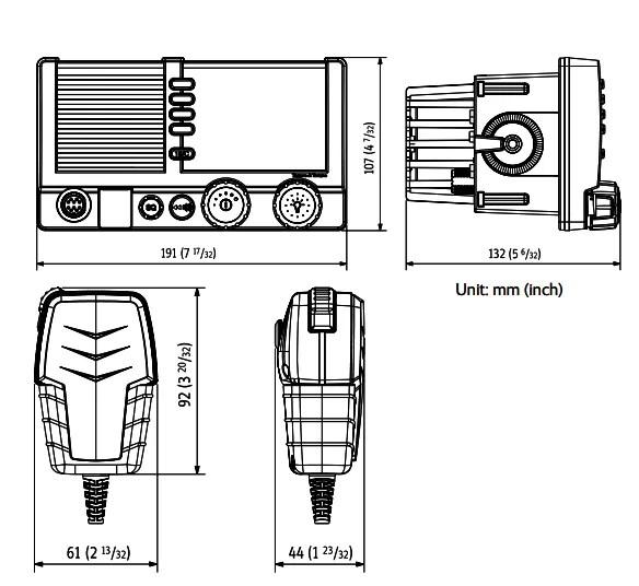 SAILOR 6217: VHF DSC Class D AIS Receiver FULL SYSTEM