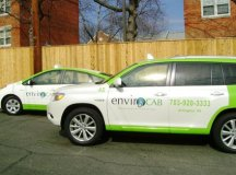 ELEVATION BURGER OWNER HANS HESS has invested in a fleet of 50 hybrid cabs, launching EnviroCAB in Arlington County. (Photo: News-Press)