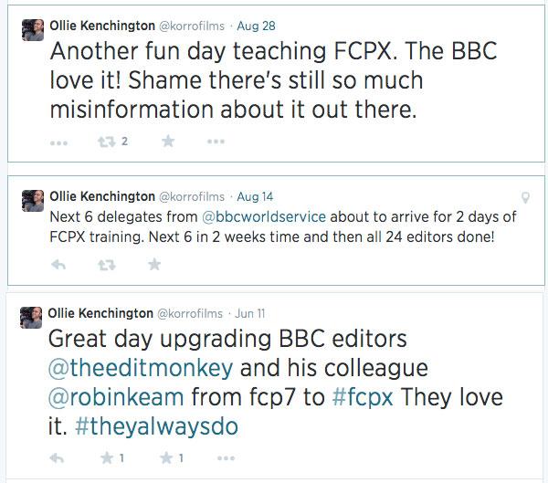 BBC news tweets