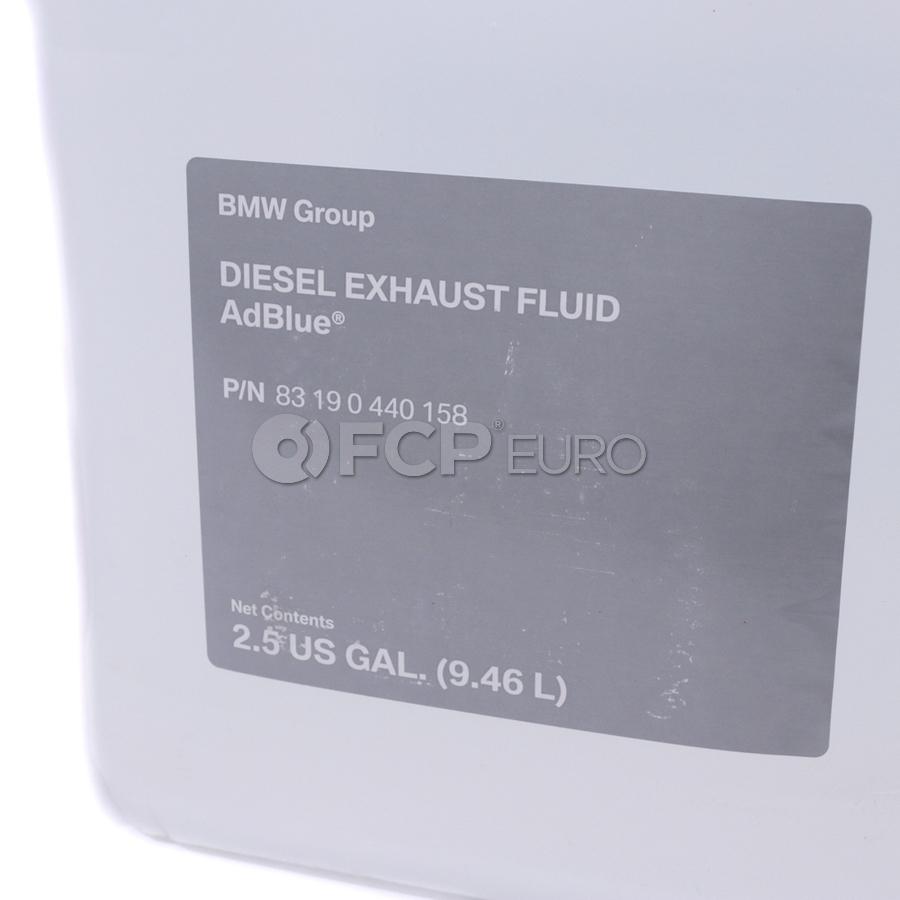 bmw diesel emissions fluid 2 5 gallons adblue genuine bmw 83190440158