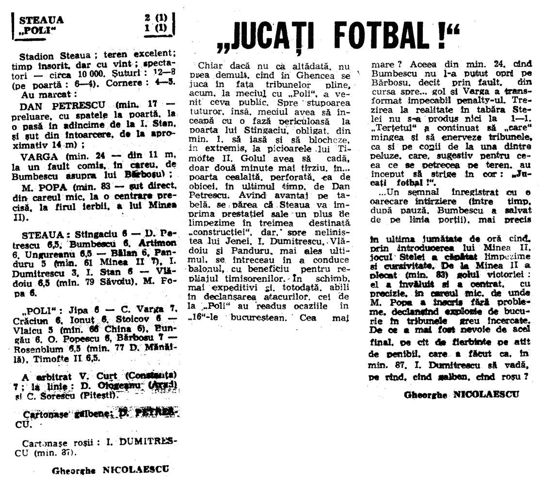 Istoricul Intalnirilor Steaua Bucuresti A Politehnica