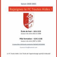 PRÉ-INSCRIPTIONS Saison 2020-2021
