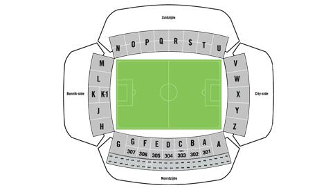 plattegrond stadion galgenwaard