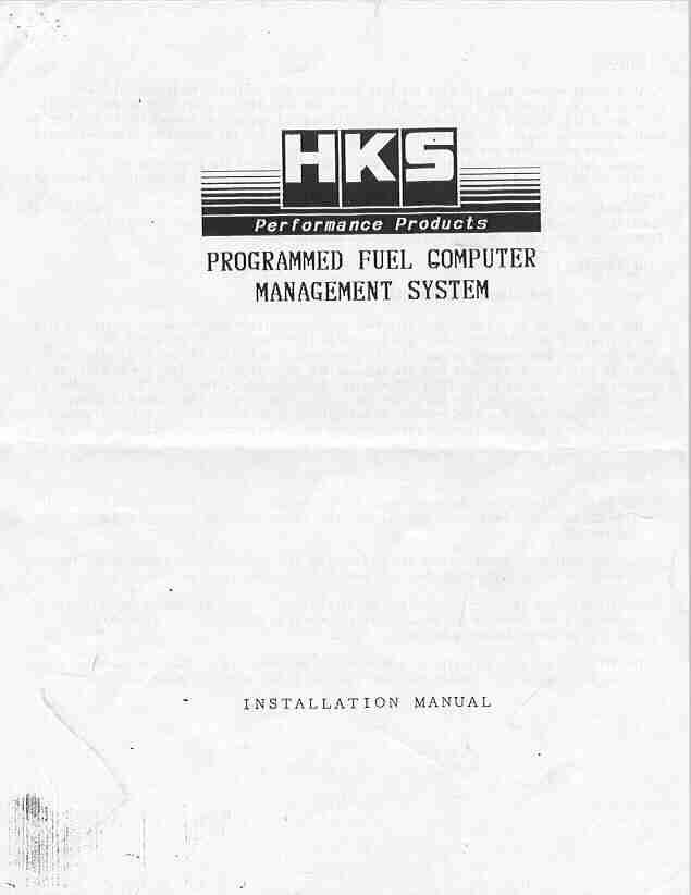 Hks Pfc F Con Wiring Diagram : 28 Wiring Diagram Images