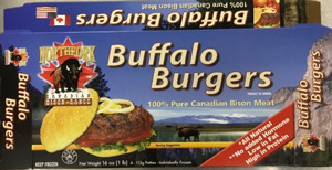 Buffalo Burger Canadian Bison Meat