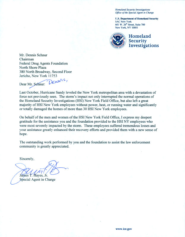How To Write A Letter To Homeland Security