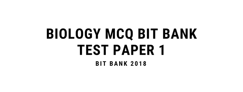 Biology Questions For Competitive Exams MCQ Bit Bank