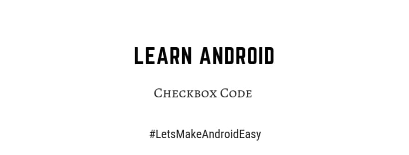 Android Checkbox source code download