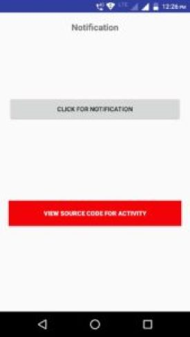 Android notification action bar source code download