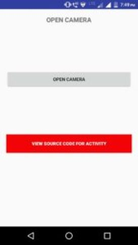 Android camera snippet code download