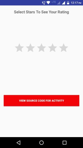 Android Rating Bar snippet java code download