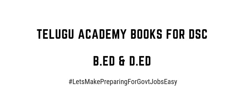 Telugu academy ebooks for B Ed and D Ed | Free download