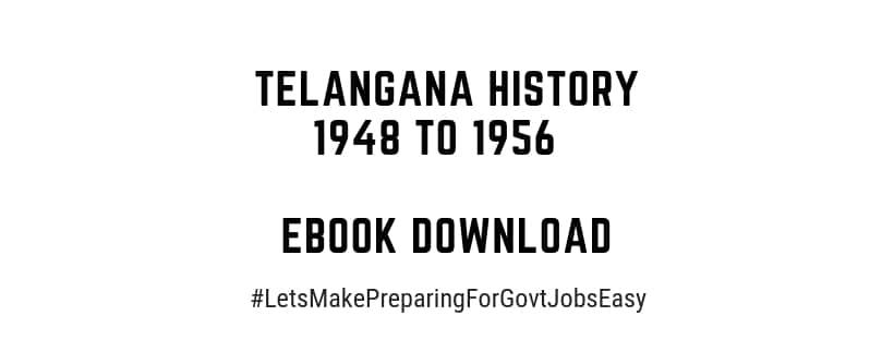 Telangana History 1948 to 1956 eBook download