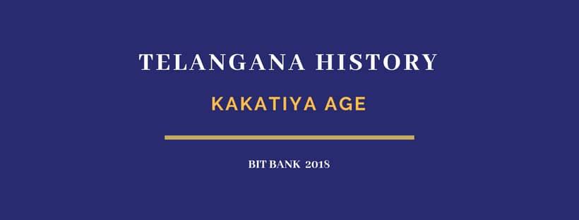 Kakatiya dynasty gk for competitive exams MCQ bit bank