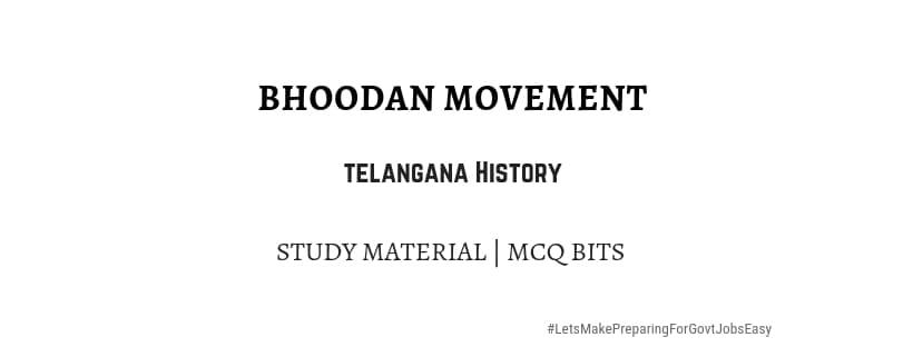 Bhoodan movement in telangana