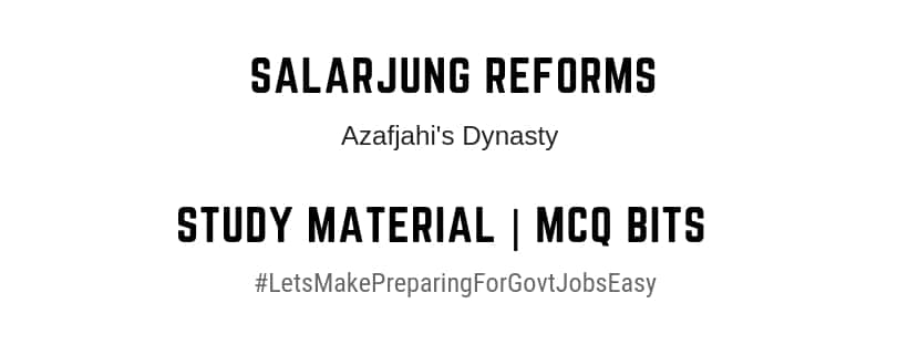 Salar Jung Reforms