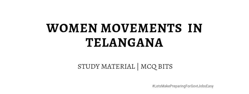 Women Movements Telangana