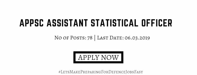 APPSC Assistant Statistical Officer 2019